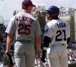 """McGuire & Sosa combined for 136 HRs in """"Great Home Run Race"""" of 1988"""