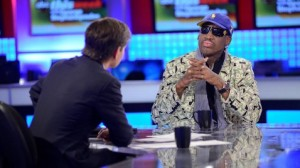 Dennis Rodman with George Stephanopulos