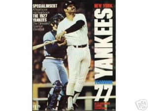 1977 Yankee Year Book - Chris Chambliss #10