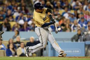Carlos Gomez 2 run HR top 7th off of Matt Guerrier