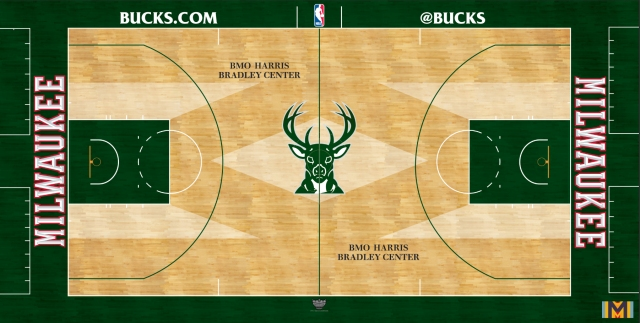 Milwaukee Bucks NEW playing surface