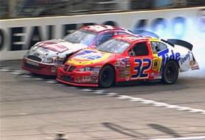 Ricky Craven & Kurt Busch at Darlington 2003