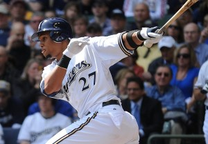 Carlos Gomez at the plate
