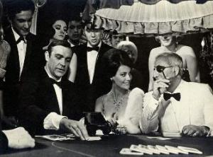James Bond at the baccarat table