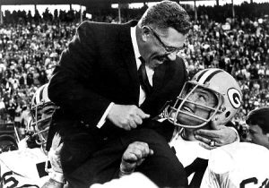 Lombardi after winning Super Bowl II