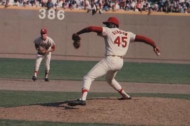 !967 World Series Bob Gibson (the '64 W.S. MVP)