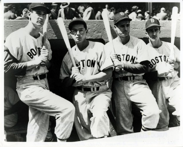 '46 Series Williams (Dom) DiMaggio, Doerr, and Pesky
