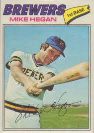 Heagan as a Brewers (my very first baseball card)