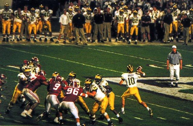 1-1-00 Tom Brady -Orange Bowl