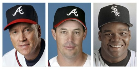Class of 2014 Glavine, Maddux, and Thomas