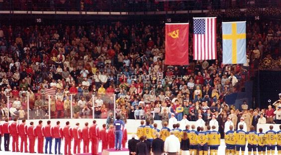 Medal Ceremony 1980 Winter Games - Lake Placid