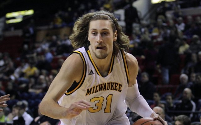 UWM Soph. Forward Matt Tiby (pre-buzz cut)