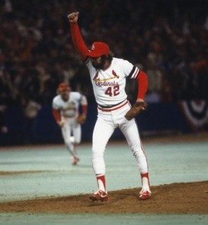 Bruce Sutter after the last out of the '82 World Series