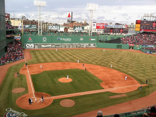 2014 Opening Day Fenway Park