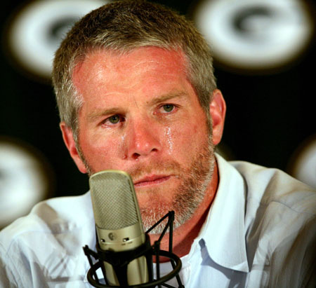 Favre retires (1st time)